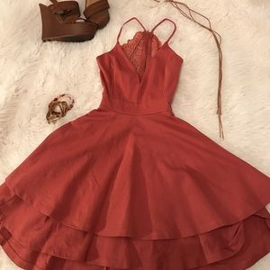 Burnt Rose Mini Dress